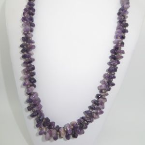 Two Vintage Amethyst Necklaces
